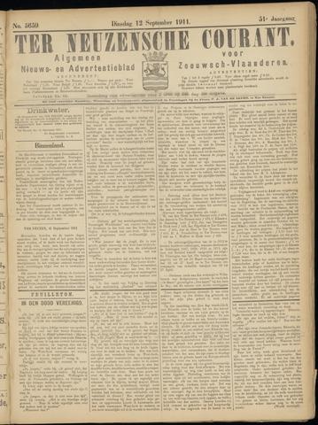 Ter Neuzensche Courant. Algemeen Nieuws- en Advertentieblad voor Zeeuwsch-Vlaanderen / Neuzensche Courant ... (idem) / (Algemeen) nieuws en advertentieblad voor Zeeuwsch-Vlaanderen 1911-09-12