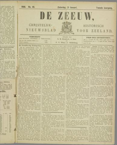 De Zeeuw. Christelijk-historisch nieuwsblad voor Zeeland 1888-01-21
