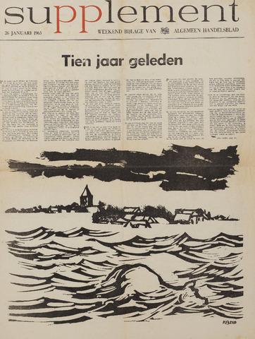Watersnood documentatie 1953 - kranten 1963-01-26