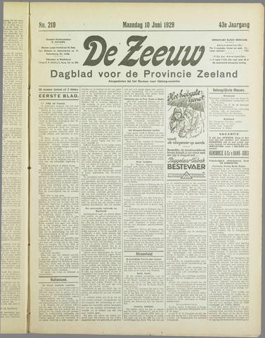 De Zeeuw. Christelijk-historisch nieuwsblad voor Zeeland 1929-06-10