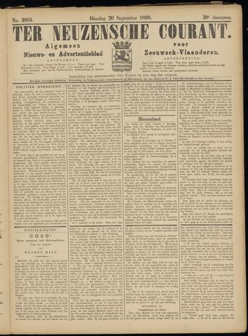 Ter Neuzensche Courant. Algemeen Nieuws- en Advertentieblad voor Zeeuwsch-Vlaanderen / Neuzensche Courant ... (idem) / (Algemeen) nieuws en advertentieblad voor Zeeuwsch-Vlaanderen 1898-09-20