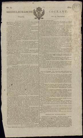 Middelburgsche Courant 1814-09-27