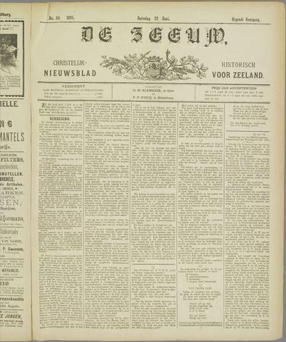 De Zeeuw. Christelijk-historisch nieuwsblad voor Zeeland 1895-06-22