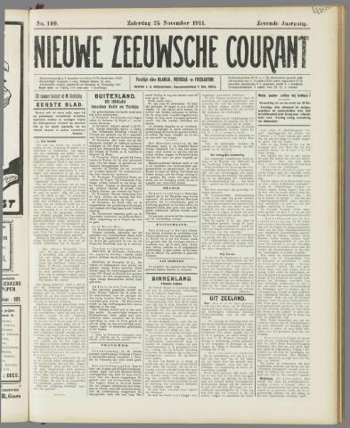 Nieuwe Zeeuwsche Courant 1911-11-25