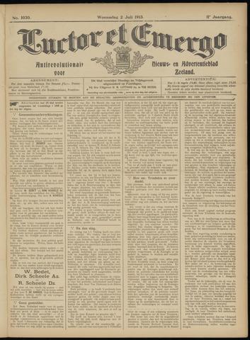 Luctor et Emergo. Antirevolutionair nieuws- en advertentieblad voor Zeeland / Zeeuwsch-Vlaanderen. Orgaan ter verspreiding van de christelijke beginselen in Zeeuwsch-Vlaanderen 1913-07-02