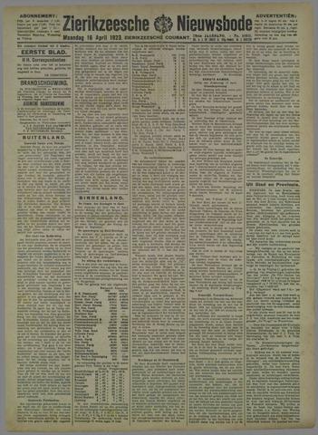 Zierikzeesche Nieuwsbode 1923-04-16