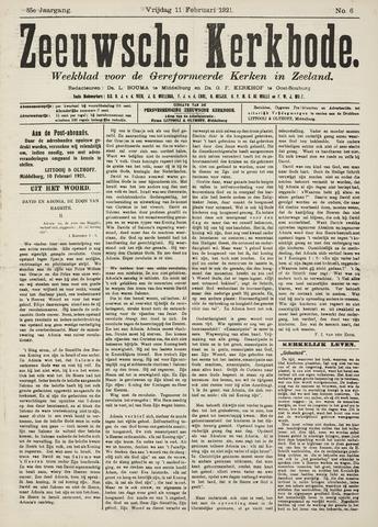 Zeeuwsche kerkbode, weekblad gewijd aan de belangen der gereformeerde kerken/ Zeeuwsch kerkblad 1921-02-11