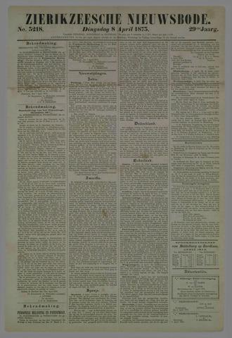Zierikzeesche Nieuwsbode 1873-04-08