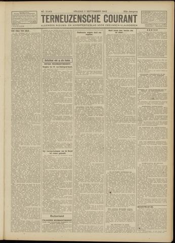 Ter Neuzensche Courant. Algemeen Nieuws- en Advertentieblad voor Zeeuwsch-Vlaanderen / Neuzensche Courant ... (idem) / (Algemeen) nieuws en advertentieblad voor Zeeuwsch-Vlaanderen 1942-09-11