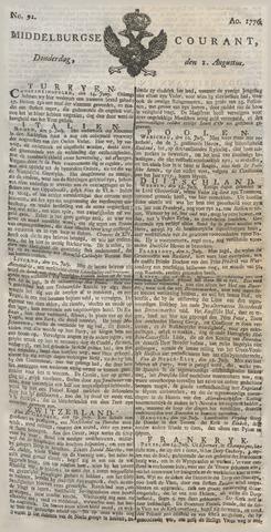 Middelburgsche Courant 1776-08-01