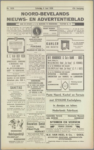 Noord-Bevelands Nieuws- en advertentieblad 1936-06-06