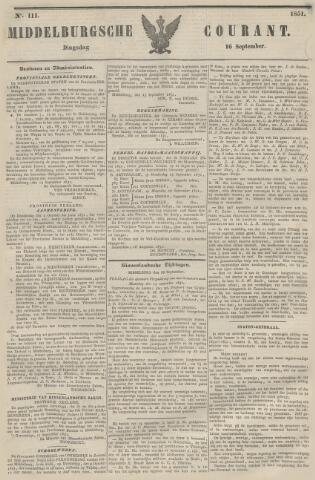 Middelburgsche Courant 1851-09-16