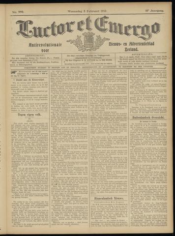 Luctor et Emergo. Antirevolutionair nieuws- en advertentieblad voor Zeeland / Zeeuwsch-Vlaanderen. Orgaan ter verspreiding van de christelijke beginselen in Zeeuwsch-Vlaanderen 1913-02-05