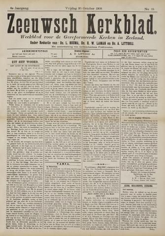 Zeeuwsche kerkbode, weekblad gewijd aan de belangen der gereformeerde kerken/ Zeeuwsch kerkblad 1908-10-30
