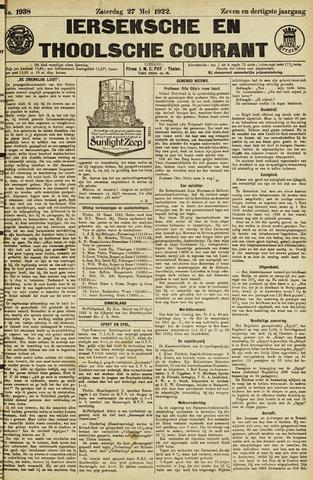 Ierseksche en Thoolsche Courant 1922-05-27