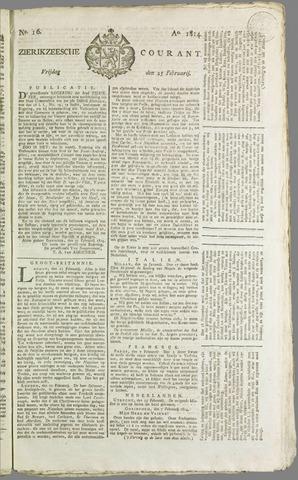 Zierikzeesche Courant 1814-02-25