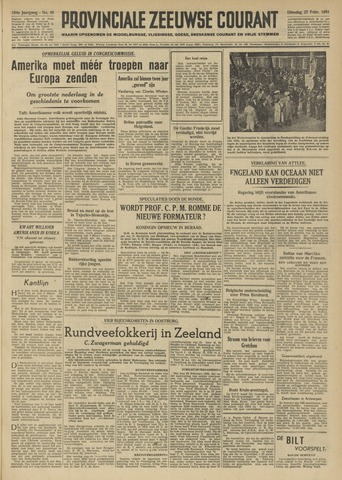 Provinciale Zeeuwse Courant 1951-02-27