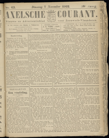 Axelsche Courant 1922-11-07