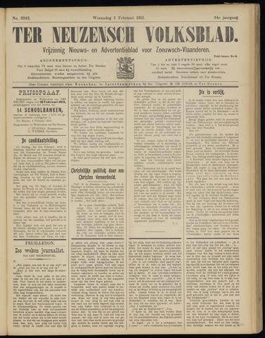 Ter Neuzensch Volksblad. Vrijzinnig nieuws- en advertentieblad voor Zeeuwsch- Vlaanderen / Zeeuwsch Nieuwsblad. Nieuws- en advertentieblad voor Zeeland 1913-02-05