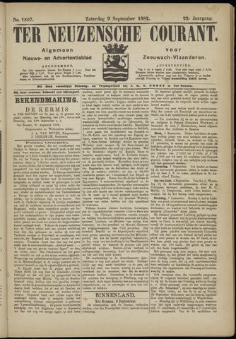 Ter Neuzensche Courant. Algemeen Nieuws- en Advertentieblad voor Zeeuwsch-Vlaanderen / Neuzensche Courant ... (idem) / (Algemeen) nieuws en advertentieblad voor Zeeuwsch-Vlaanderen 1882-09-09