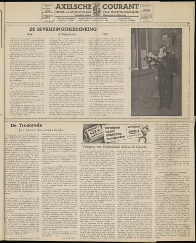 Axelsche Courant 1952-09-20