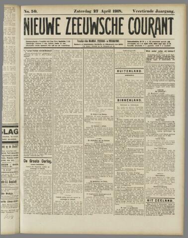Nieuwe Zeeuwsche Courant 1918-04-27