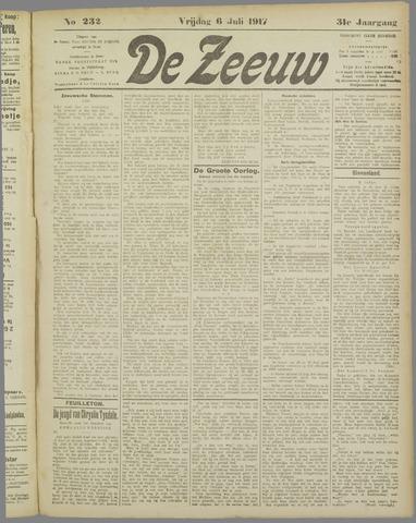 De Zeeuw. Christelijk-historisch nieuwsblad voor Zeeland 1917-07-06