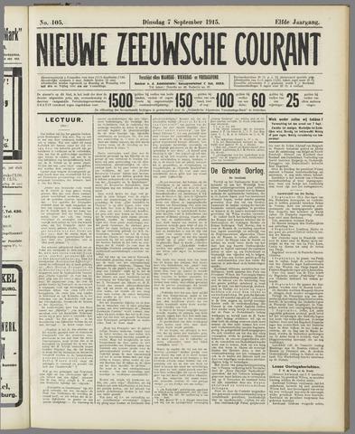 Nieuwe Zeeuwsche Courant 1915-09-07