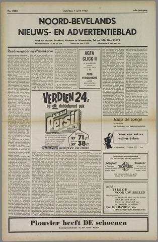 Noord-Bevelands Nieuws- en advertentieblad 1962-04-07
