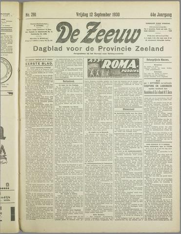 De Zeeuw. Christelijk-historisch nieuwsblad voor Zeeland 1930-09-12