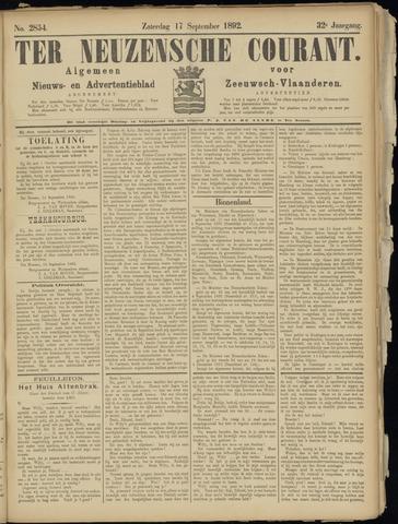 Ter Neuzensche Courant. Algemeen Nieuws- en Advertentieblad voor Zeeuwsch-Vlaanderen / Neuzensche Courant ... (idem) / (Algemeen) nieuws en advertentieblad voor Zeeuwsch-Vlaanderen 1892-09-17
