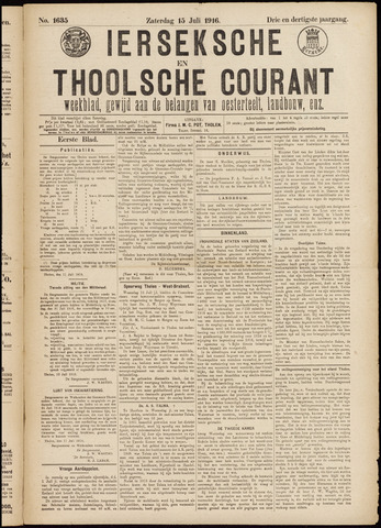 Ierseksche en Thoolsche Courant 1916-07-15