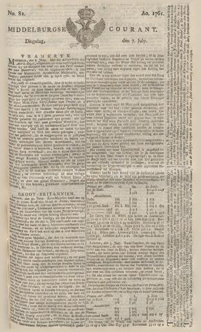 Middelburgsche Courant 1761-07-07
