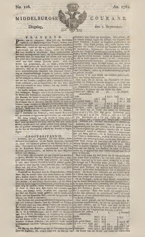 Middelburgsche Courant 1762-09-07