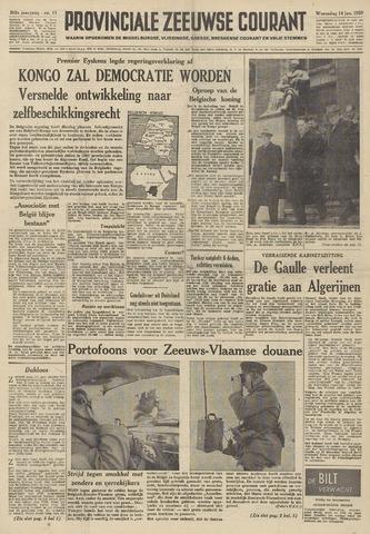 Provinciale Zeeuwse Courant 1959-01-14