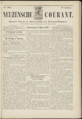 Ter Neuzensche Courant. Algemeen Nieuws- en Advertentieblad voor Zeeuwsch-Vlaanderen / Neuzensche Courant ... (idem) / (Algemeen) nieuws en advertentieblad voor Zeeuwsch-Vlaanderen 1877-03-21