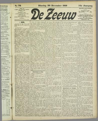 De Zeeuw. Christelijk-historisch nieuwsblad voor Zeeland 1919-12-30