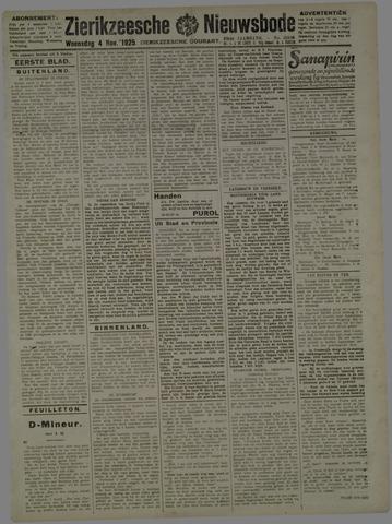 Zierikzeesche Nieuwsbode 1925-11-04
