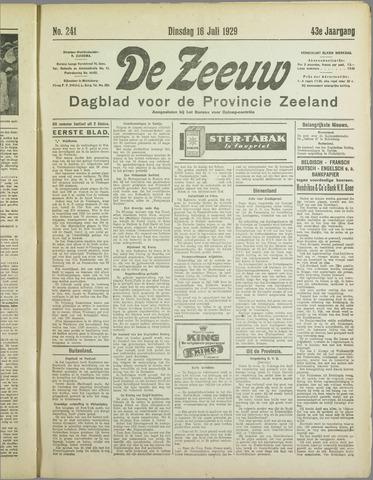 De Zeeuw. Christelijk-historisch nieuwsblad voor Zeeland 1929-07-16