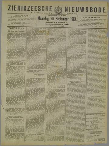 Zierikzeesche Nieuwsbode 1913-09-29