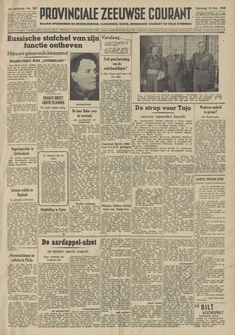 Provinciale Zeeuwse Courant 1948-11-13