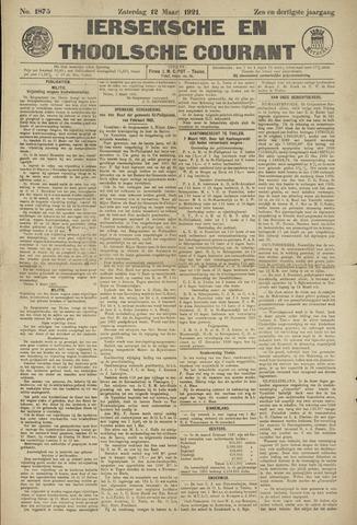 Ierseksche en Thoolsche Courant 1921