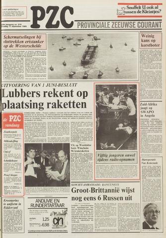 Provinciale Zeeuwse Courant 1985-09-17
