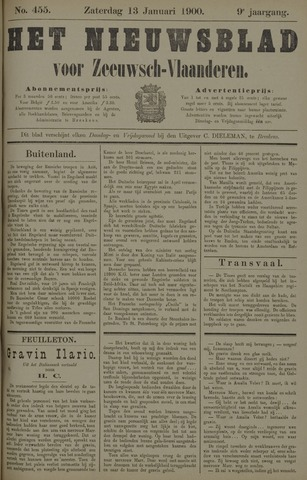 Nieuwsblad voor Zeeuwsch-Vlaanderen 1900-01-13