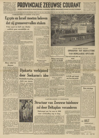 Provinciale Zeeuwse Courant 1957-01-17