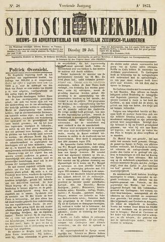 Sluisch Weekblad. Nieuws- en advertentieblad voor Westelijk Zeeuwsch-Vlaanderen 1873-07-29