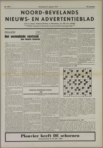 Noord-Bevelands Nieuws- en advertentieblad 1972-08-24