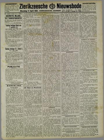 Zierikzeesche Nieuwsbode 1921-04-11
