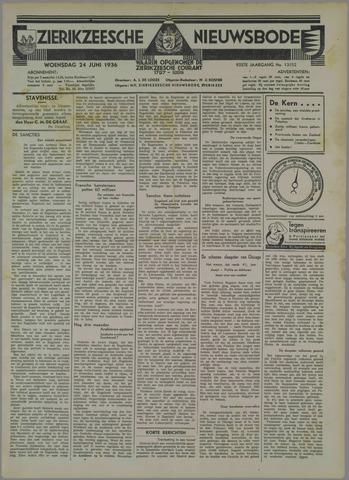 Zierikzeesche Nieuwsbode 1936-06-24