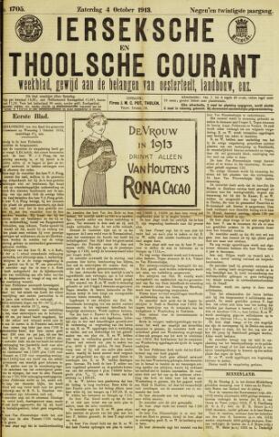 Ierseksche en Thoolsche Courant 1913-10-04